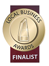 Local business award finalist badge